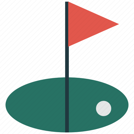 flag, game, golf, golf club, sports icon