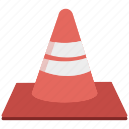cone, tools, traffic, vlc, warning icon