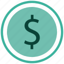 currency, dollar, finance, payment icon icon