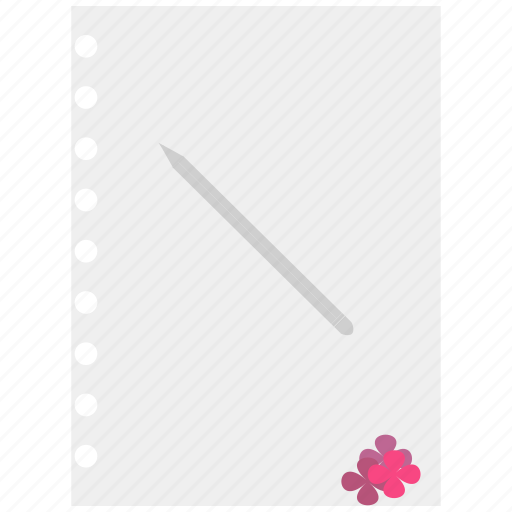 paper, pencil, text page, write icon icon