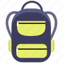 backpack, bag, education, school, school bag icon icon