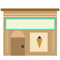 hotdog, icecream, stand, wagon icon icon