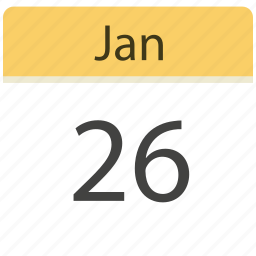 26 jan, calendar, date, jan, month, schedule icon