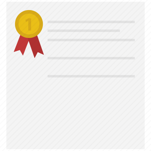 document, file, medal, paper, text icon icon