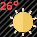 shine, sun, sunny icon icon
