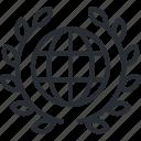 globe, internet, line, network, premium, service, thin icon