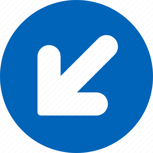 arrow, direction, down, left, move, navigation, shift icon