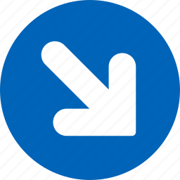 arrow, direction, down, move, out, right, shift icon