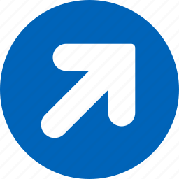 arrow, direction, move, navigation, right, shift, up icon
