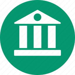 bank building, banking, business, financial company, home, house, office icon