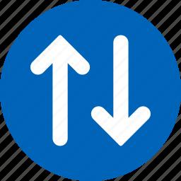 arrows, change, exchange, flip, replace, swap, vertical icon