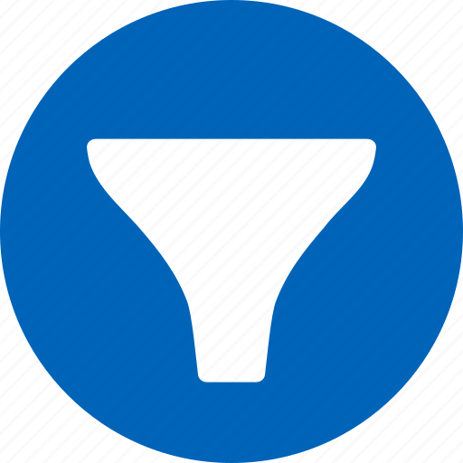 contraction, filter, filtration, funnel, pinch, restriction, stricture icon