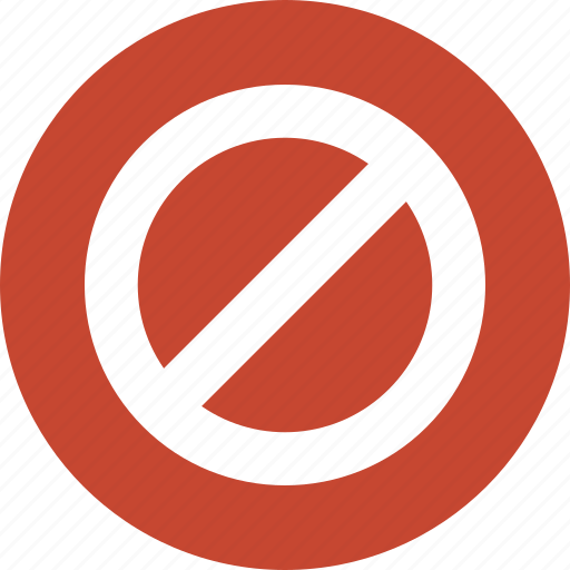cancel, closed, forbidden, no entry, not available, restricted, stop icon