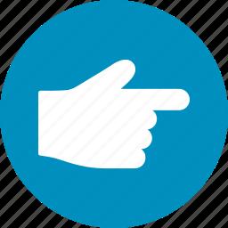choice, direction, gesture, hand, index finger, point, pointer icon