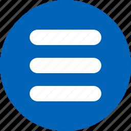 hamburger, interface, items, list, menu, set, stack icon