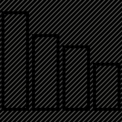 bar, bars, chart, descending icon icon
