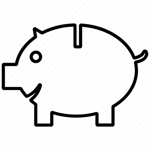 coin, money, pig, piggy bank, saving icon icon icon