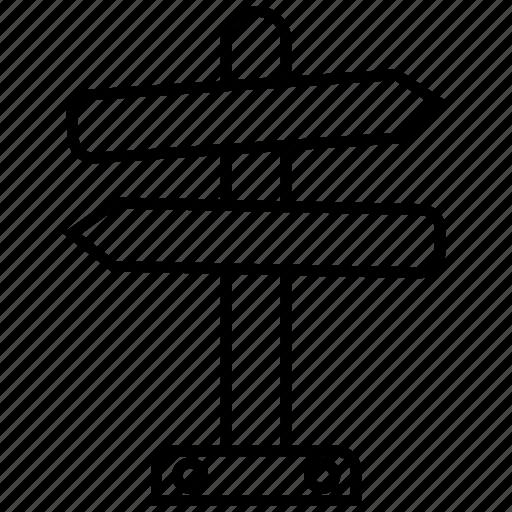 arrow, arrows, direction, post, road, sign icon icon