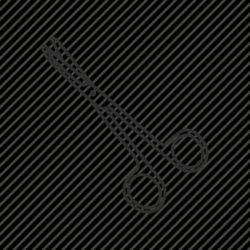 cutting, dissecting scissors, medical, scissors, surgical, surgical scissors, tool icon