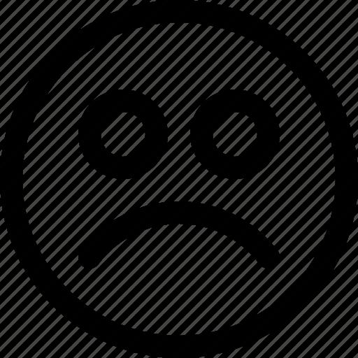 Angry, face, emotion, sad, emoji, emoticon, feedback icon - Download on Iconfinder