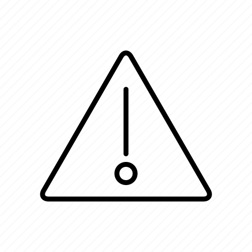 attention, sign, warning icon