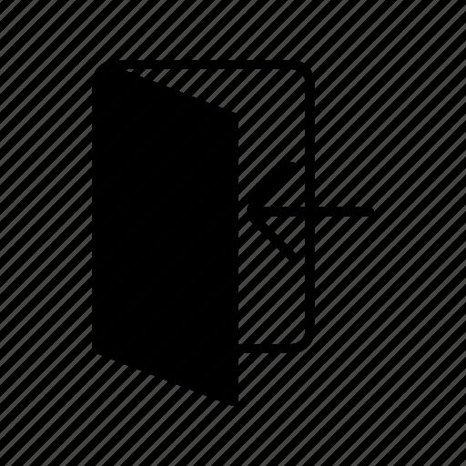 door, enter, in, login icon