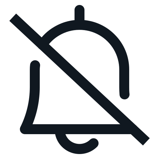 bell, mute, notification, notify, ring icon