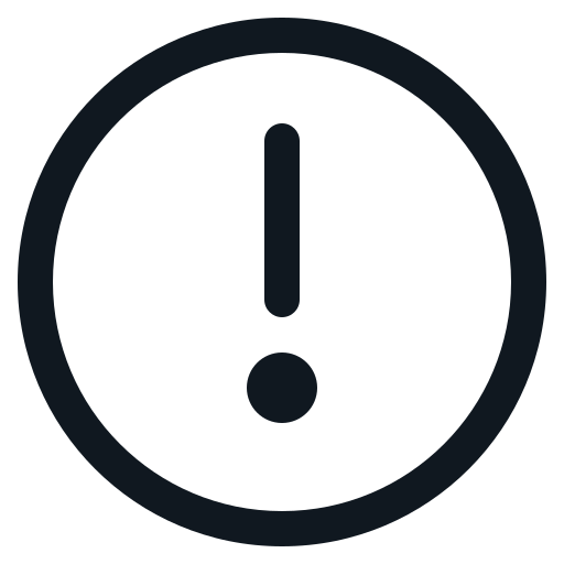 caution, exclamation, mark, round, sign icon