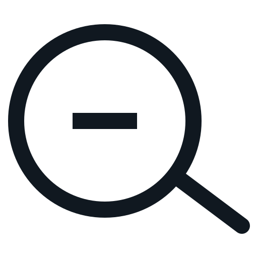 glass, magnifying, minus, out, zoom icon