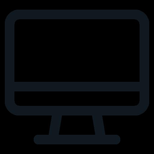 computer, desktop, monitor, pc, personal icon