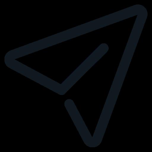 craft, go, paper, plane, send, start icon