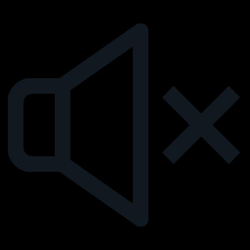 mute, sound, speaker, voice, volume icon