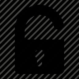 protection, security, ui, unlock icon