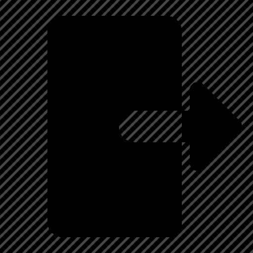 box, exit, logout, ui icon