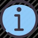 about, detail, faq, info icon
