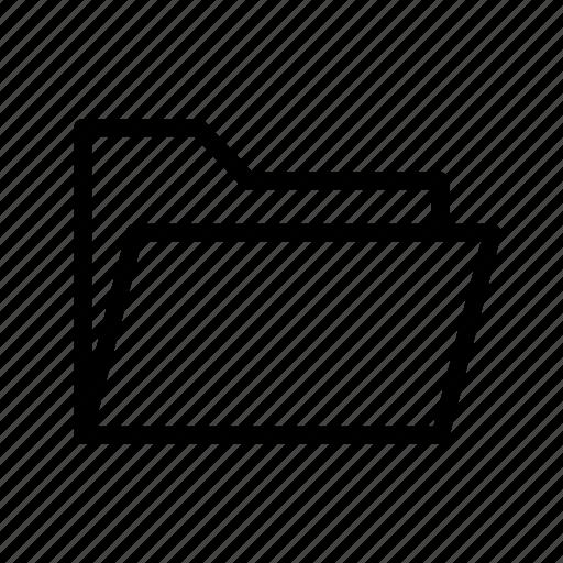 archive, basic, folder, folder open icon