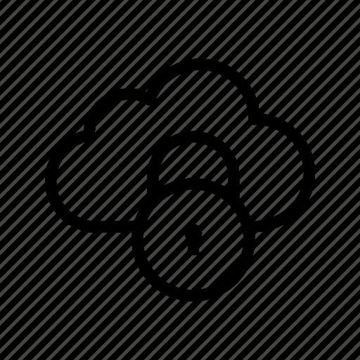 cloud, lock, storage icon