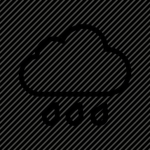 cloud, rain, rain cloud icon