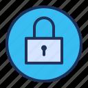 lock, padlock, secure, ui