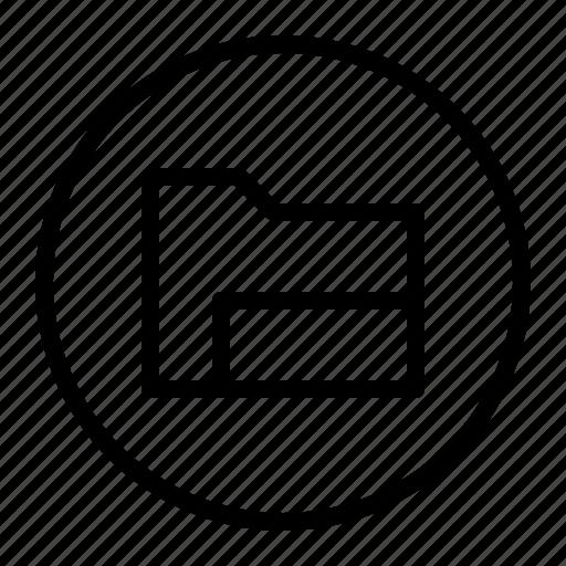 archive, data, folder, ui icon