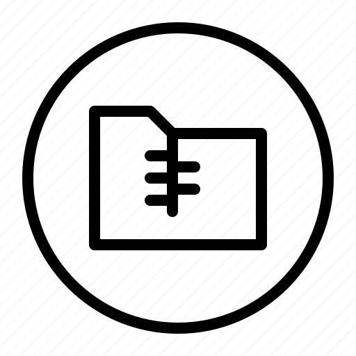 file, folder, ui, zip icon