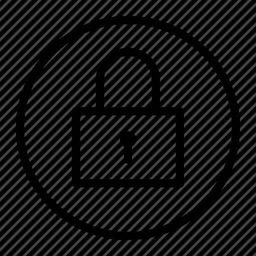 lock, padlock, secure, ui icon