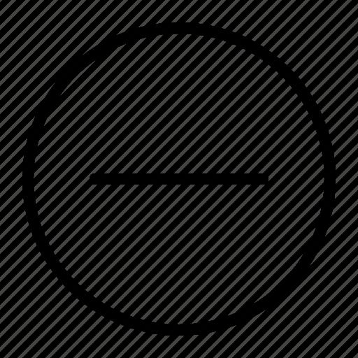 decrease, minus, remove, ui icon