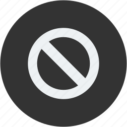 cancel, circle, cross, exit, no, stop, wrong icon