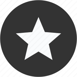 bookmark, circle, rank, rate, rating, review, star icon