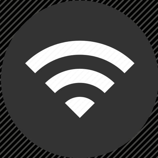 circle, hotspot, internet, network, signal, wifi, wireless icon