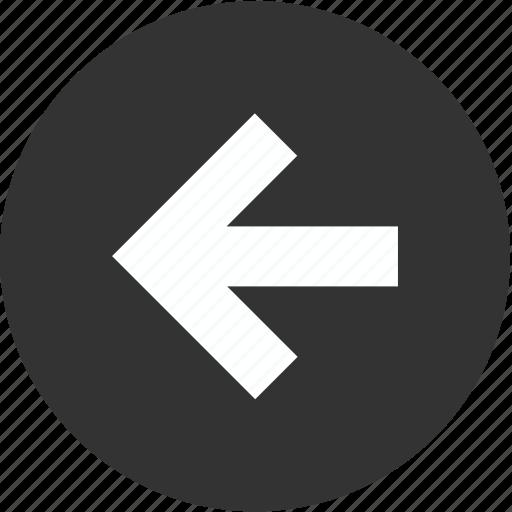 arrow, back, backward, circle, direction, left, previous icon