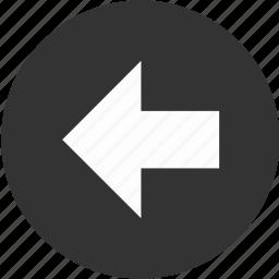 arrow, back, backward, circle, left, previous, return icon