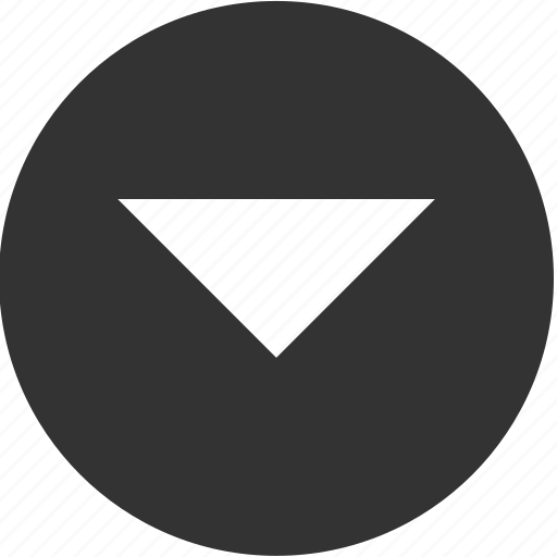 arrow, bottom, circle, direction, down, downward, south icon