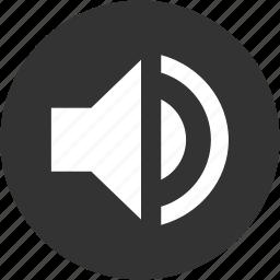 circle, full volume, loud, sound, speaker, volume icon